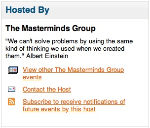 The MasterMinds Training Schedule